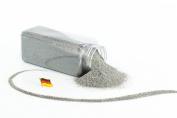 Decorative coloured sand TIMON, light grey, 0,1-0,5 mm, 605 ml bottle, Made in Germany - Coloured craft sand - monsterkatz