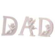 White Cherub D A D Letters - Set of 3 Letters