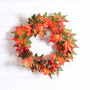 HUHU833 Thanksgiving Day Fall Door Wreath Door Wall Ornament