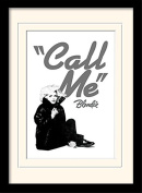 """Blondie """"Call Me"""" Mounted and Framed Print, Multi-Colour, 30 x 40 cm"""