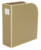 Magazine Box chamois +++ organise documents at home or office +++ Quality made by Semikolon