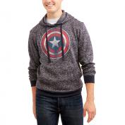 Marvel Captain America Big Men's Sweater Fleece Jacket, 2XL