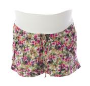 JULES & JIM Maternity Women's Floral Print Belted Shorts Medium Multi-Colour