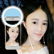 Portable Rechargeable USB Charge Selfie LED Ring Brightness Filling Light Camera for iPhone for Android Phone