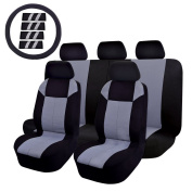 14PC Car Seat Cover OMISS Universal Fit Full Set Sports Fabric car seat cover