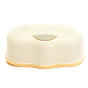 Wet Tissue Paper Box Baby Wipes Storage Case Holder Container Button Open Home,Yellow colour