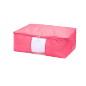 Blanket Pillows Quilt Clothes Beddings Storage Bag Organiser Pink 50 x 35 x 20cm