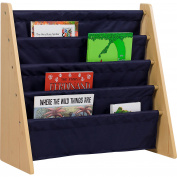 Levels of Discovery Sling Book Shelf, Natural with Blue