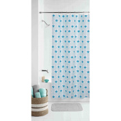 Mainstays Kids Boho Butterfly Floral Shower Curtain