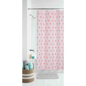 Mainstays Kids Boho Butterfly Coral Floral Shower Curtain