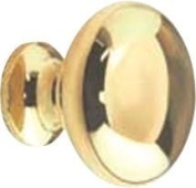 HIGH DENSITY ZINC CABINET KNOB 3.2cm . POLISHED BRASS