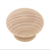 Brainerd Mfg Co/Liberty Hdw P10513H-BIR-C 3.8cm . Round Wood Cabinet Knob