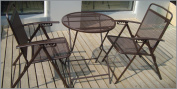 Bistro set Patio Set 3pc Table & Chairs Outdoor Furniture Wrought Iron CAFE set-Coffee