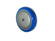 Blue Caster Wheel 13cm x 2.5cm - 0.6cm Polyurethane Wheel x 1cm ID & Thread Guards