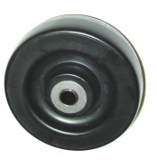 (One) 4 Series Caster Wheel 1.6cm ID 15cm x 5.1cm Polyolefin (Black)