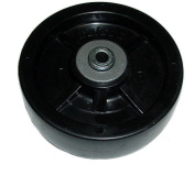Colson 3 Series Solid Polyolefin 13cm x 2.5cm - 1.3cm Caster Wheel with 1cm ID Bearing
