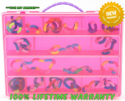 Life Made Better Toy Storage Organiser. Fits Up to 30 Figures. Compatible With Tangle Relax Therapy Toys - Pink