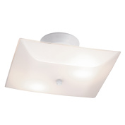 Chapter Flushmount Lht 28cm Sqbedroom Wh W/ Bulb