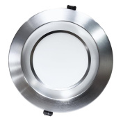 Nicor Lighting CLR8-TR-NK 20cm . Trim for CLR8 Downlight, Nickel