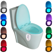Motion Activated UV Sterilisation Features Toilet Light Inside Toilet/ Toilet Night Light LED Light Up Toilet Seat Bathroom Lamp for Any Toilet 8 Colours