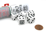 Koplow Games Route 66 Dice Game with 5 Dice Travel Tube and Gaming Instructions #18780