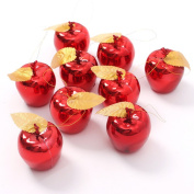 Christmas Decoration 12 Pcs Apples Christmas Tree Hanging Ornament Red Color