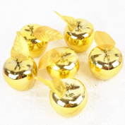 Christmas Decoration 12 Pcs Apples Christmas Tree Hanging Ornament Gold Color