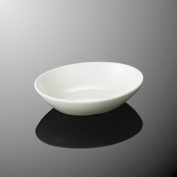 Plastic resin tableware plate D8 for the dishwasher-adaptive strong duties that are hard to be broken for melamine 14cm Oval ball 143X109mm H36mm 200cc ivory white, DC Christa [E129IWD] Kei Malle duties