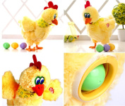30cm Funny Chicken Hen Will Lay Eggs Crazy Singing Dancing Electric Pet Plush Toys