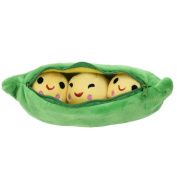 25CM Kids Baby Plush Toy Pea Stuffed Plant Doll Pea-shaped Pillow Toy