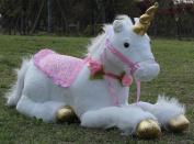 85cm Jumbo White Unicorn Plush Toys Giant Stuffed Animal