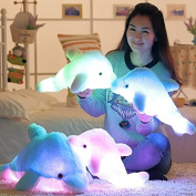 LED 7 Colour-Changing Luminous Dolphin Soft Toys Pillows Plush Material Wonderful Nursery Room Christmas Decoration