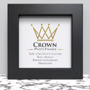 Crown Black Photo Frame for 6x6 Inches (15.2 x 15.2 cm) Picture Photo, Stand or Hang on wall in both Landscape and Portrait
