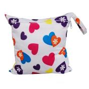 Albeey Baby Waterproof Zipper Bag Washable Reusable Baby Cloth Nappy Bag Animals Pattern