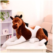 70x40cm horse plush toy stuffed horse doll white brown color