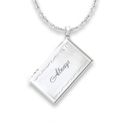 The Bradford Exchange 'Message from Heaven' - Diamond Remembrance Pendant - With Sterling Silver & 18 Carat Gold Accents