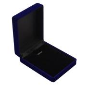 Vintage Velvet Plastic Royal Blue Jewellery Box Gift for Ring Bracelet Necklace