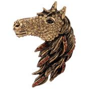 Loveangel Jewellery Women's Crystal Big Horse Brooch Pendant
