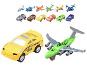 Pull Back Vehicles,12 Pack Assorted Aeroplane Helicopter Vehicles Race Car Toy,Die Cast Vehicles Helicopter Mini Car Toy For Kids Toddlers Boys,Pull Back And Go Car Toy Play Set by MeMo Toys