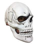 White Skull Skeleton Mask, Overhead Latex, Day Of The Dead, Dia De Los Muertos, Bond