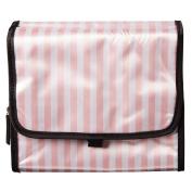 Toiletry Bag Fold Hanging Pink Stripe