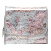 Toiletry Bag Fold Hanging World Map