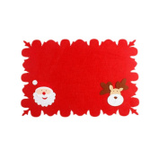YanHoo 1PC Bowl Fork Placemat Mat Decoration Home Party Christmas Dining Table