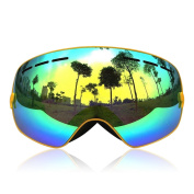 Ski Goggles,GANZTON Skiing Goggles Snowboard goggles Double Lens Anti-UV Anti-Fog Skating Goggles For Women And Men, Boys And Girls