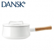 DANSK dance matrimony vine Ben-style enamel Nabekata iron pan with a handle 18cm 1.9l white 833300 JAN