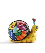 Romero Britto Mini/ Miniature 3D Figurine- Snail