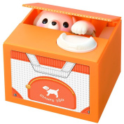 """""""Change; """"change BANK sauce ear puppy white"""" (orange) to hang BANK sauce ear puppy white"""" (orange) (the outside targeted for discount service) money box toy toy mischief bank voice"""
