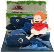 Ponyo Minityua-to kit/paper craft/Ponyo's running on the fish/Studio Ghibli/ mini/ sosuke/ Ponyo Kit/ Sankei