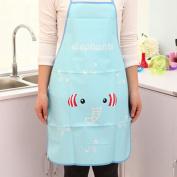 Apron Women Waterproof Cartoon Kitchen Cooking Bib Aprons Elephant