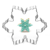 Stainless Steel Star Snowflake Biscuit Cutter Cookie Fondant Cake Mould Icing Baking Tool